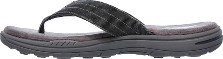 f78d3aa4 ... in the SKECHERS Relaxed Fit: Evented - Rosen sandal. Woven canvas  fabric upper in a casual comfort thong sandal with stitching accents and Memory  Foam ...