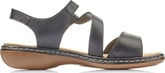 Rieker - BLACK CRISS CROSS SANDAL