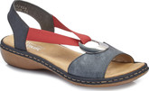 Rieker - BLUE & RED SLINGBACK