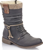 Rieker - BLACK MID BOOT WITH TASSLE