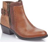 Rieker - TAN HEELED BOOT