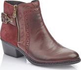 Rieker - BURGUNDY HEELED BOOT