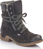 Rieker - BLACK LACE UP SUEDE BOOT