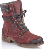 Rieker - BURGUNDY LACE UP SUEDE BOOT