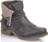 Rieker - SHORT BLACK BOOT