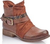 Rieker - TAN ANTIQUE BOOT WITH BUCKLE