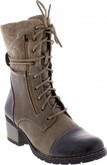 Rieker - BROWN LACE UP BOOT W/BLUE TOE