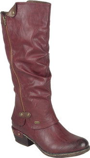 Rieker - 93655-35 - TALL RED BOOT