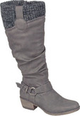 Rieker - TALL GREY/BLACK BOOT