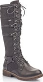 Rieker - BLACK TALL LACE UP BOOT