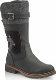 Rieker - BLACK TALL SIDE ZIP BOOT