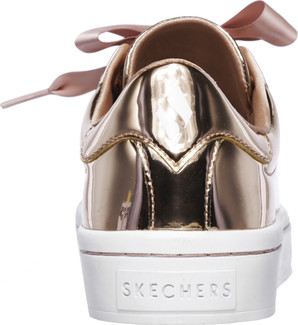 6e2c2bf659f3 Skechers - HI-LITE ROSE GOLD. Be fun and fabulous in this smooth shiny  metallic patent sneaker from Skechers. Synthetic upper in a lace up sporty  fashion ...