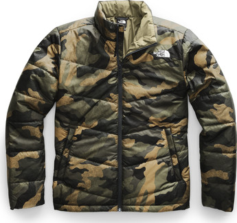 The North Face - Men's Junction Insulated Jacket Burnt Olive Green Waxed Camo Print