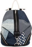 Joanel - BACKPACK IN DENIM WITH FAUX LE
