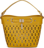 Joanel - HANDLE BAG FAUX LEATHER YELLOW
