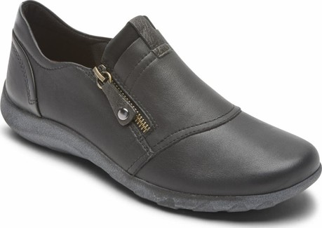Cobb Hill - AMALIE ZIPPER SLIPON BLACK - WIDE