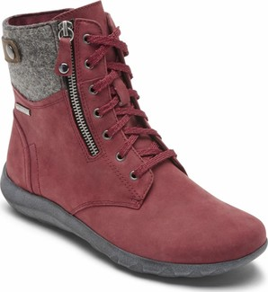 Cobb Hill - AMALIE LACE BOOT WATERPROOF RED - WIDE