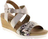 Remonte - CRISSCROSS WEDGE SILVER/FLORAL