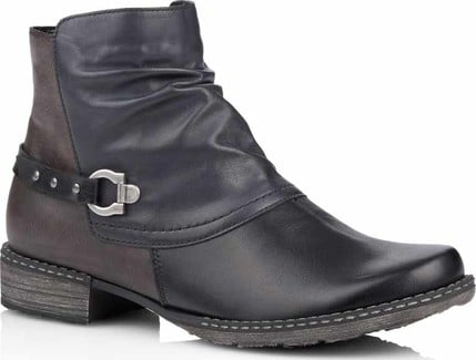 Remonte - BLACK SIDE ZIP ANKLE BOOT