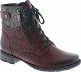 Remonte - BURGUNDY LACE UP BOOT