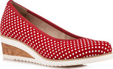Remonte - RED POLKA DOT WEDGE