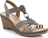 Remonte - SILVER/TAUPE WEDGE SANDAL