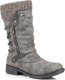 Remonte - GREY SIDE ZIP BOOT