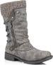 GREY SIDE ZIP BOOT