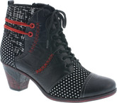 Remonte - BLACK W/RED BOOT W/POLKA DOTS