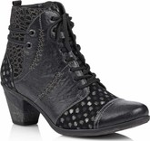 Remonte - BLACK W/GREY BOOT W/POLKA DOTS