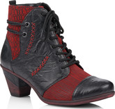 Remonte - BLACK/RED HEELED BOOTS