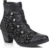 Remonte - BLACK HEELED BOOT WITH POLKA D