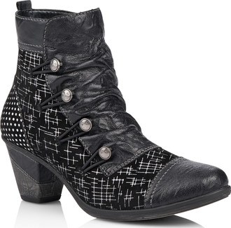 Remonte - BLACK HEELED BOOT WITH POLKA DOTS