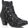 BLACK HEELED BOOT WITH POLKA D