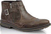 Rieker - BROWN BOOT W/BUCKLE