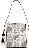 Joanel - BUTTERFLY HOBO BAG WHITE BLACK