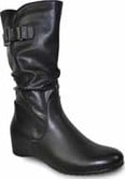 Vangelo - TALL HIDDEN WEDGE BOOT BLACK