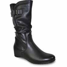 Vangelo - HF8415-BLACK - TALL HIDDEN WEDGE BOOT BLACK