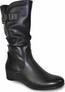 TALL HIDDEN WEDGE BOOT BLACK