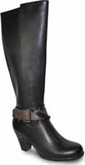 Vangelo - TALL BOOT W/BUCKLE BLACK