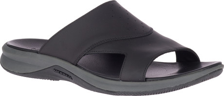 Merrell - TIDERISER LUNA SLIDE LEATHER BLACK