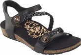 Aetrex - JILLIAN QUARTER STRAP-BLACK