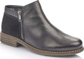 Rieker - BLACK SHORT SIDE ZIP BOOT