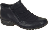 Rieker - SHORT ZIP BLACK ANKLE BOOT