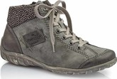 Rieker - GREY LACE UP ANKLE BOOT