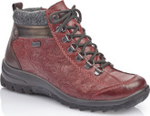 Rieker - RED SHORT LACE UP BOOT