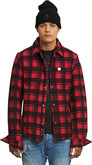 Moose Knuckles - ROCKER DAVE RED PLAID SHIRT