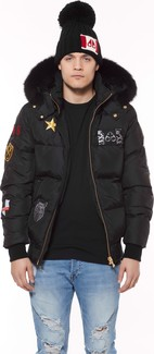 Moose Knuckles - MENS COLINTON BOMBER BLACK-BLACK