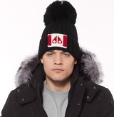 Moose Knuckles - MOOSE FLAG TOQUE BLACK