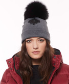 Moose Knuckles - MAPLE LEAF TOQUE CHARCOAL